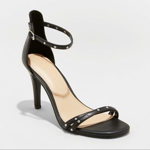 Women's Enya Studded Barely There Pump Heels-B7